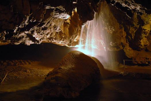 Tuckalatchee Cavern Waterfall