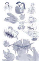 httyd sketches by yuminica