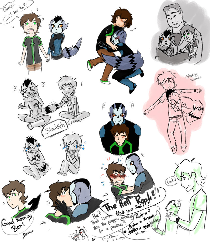 Ben+Rook Omniverse sketches by yuminica