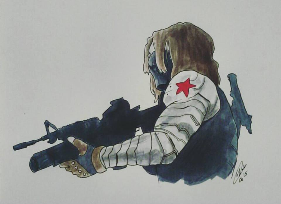 Inktober 20 - Winter Soldier by yuminica