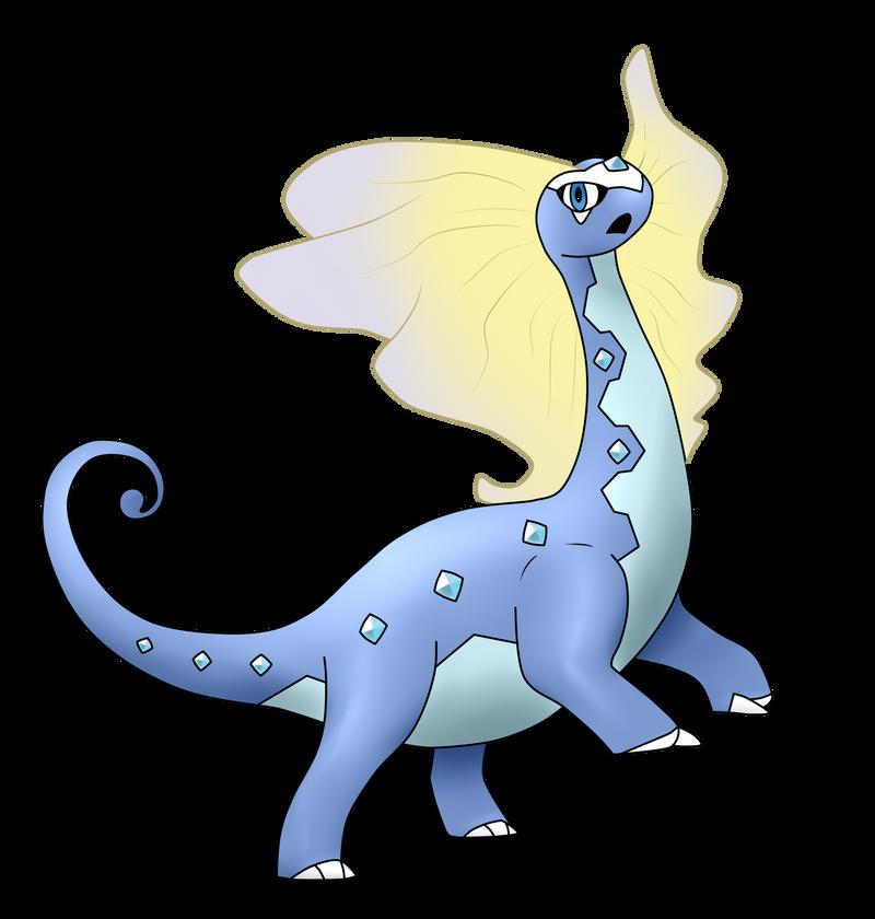 Amaura's Evolution Aurorus/Dragmara by Wolframclaws