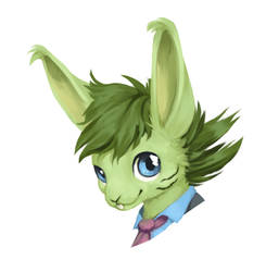 neon gift headshot by Wolframclaws