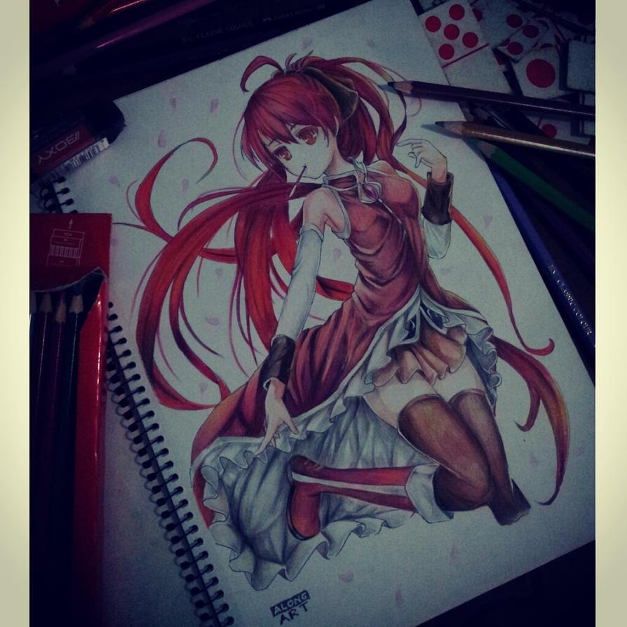 Kyoko Sakura Fanart Puella Magi Madoka Magica By Alongart