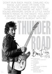 Bruce Springsteen Thunder road poster by DanieleBenedetti