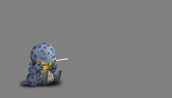 Quaggan and a Lollipop by KM-Chai