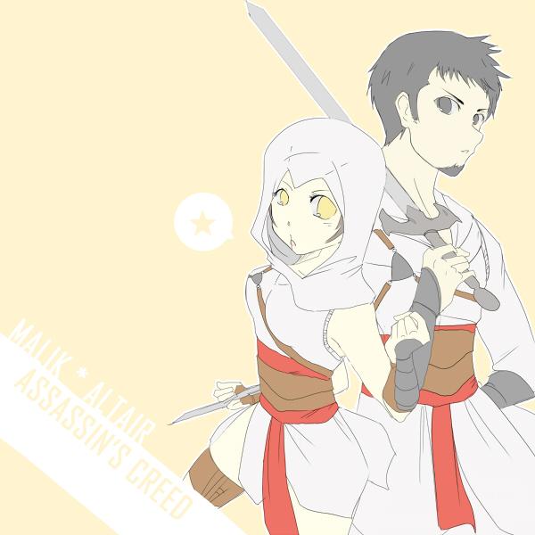AC: Malik and Altair by saiha-xi on DeviantArt
