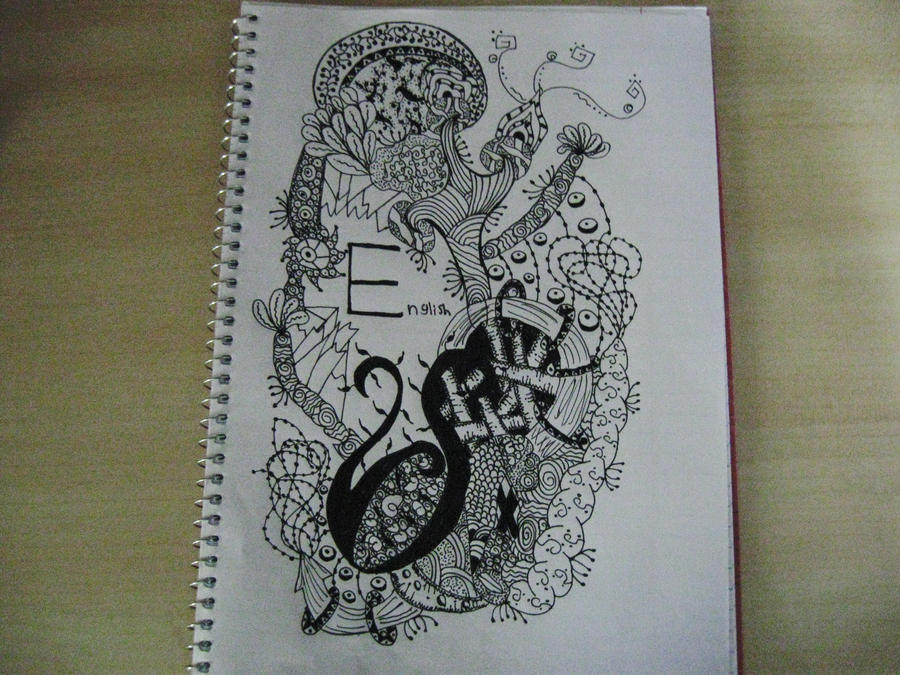Notebook Cover Art ~ English notebook cover by smileyface on deviantart