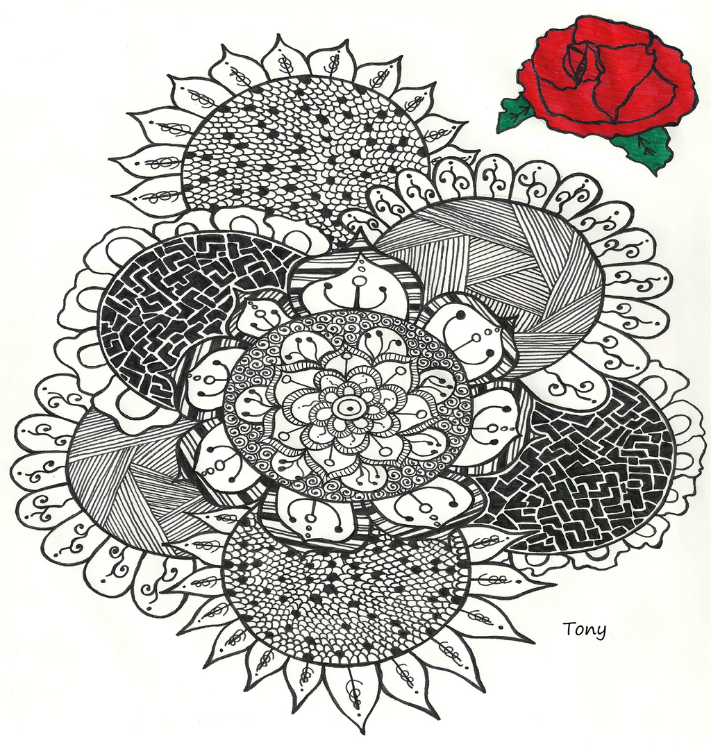 Flower Zentangle NO 2 by smileyface001 on DeviantArt