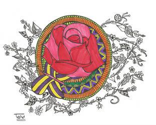 Rose Mandala by smileyface001
