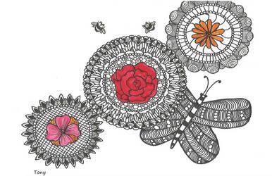 Flower Mandalas by smileyface001