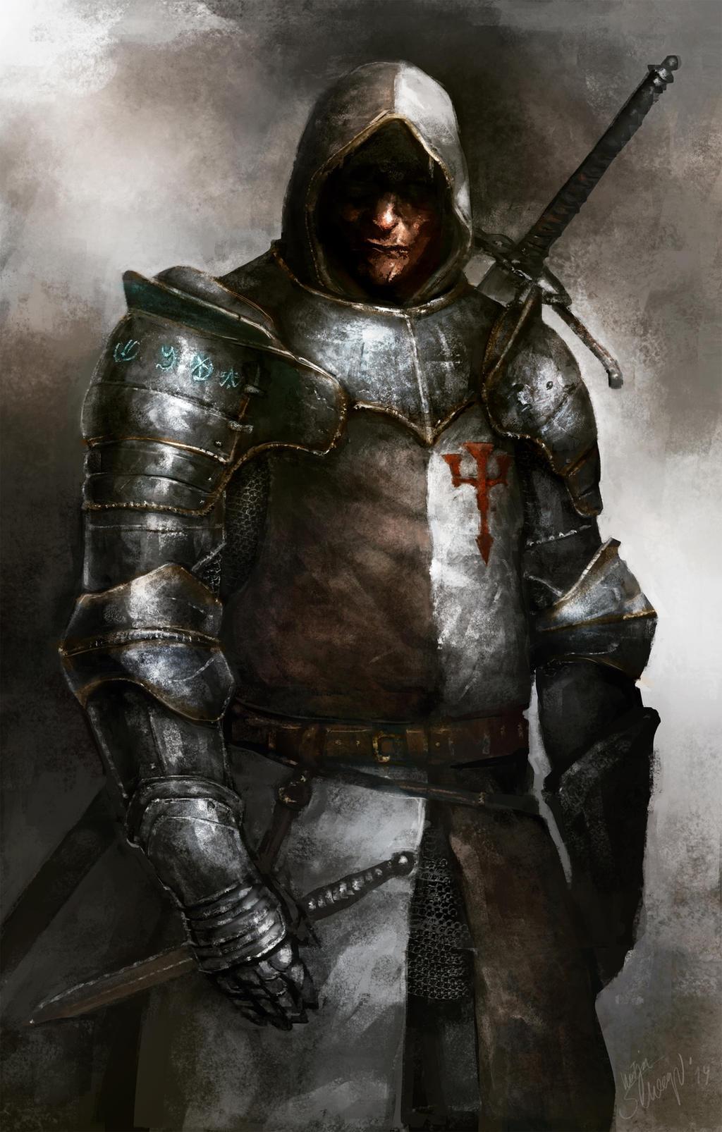 Обои «воин»), замок, доспех, мост, рацарь, осада, всадник, оружие, штурм. Разное foto 19