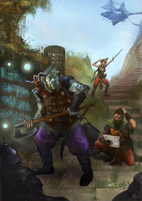 Earthdawn 4th players guide cover german by Odinoir
