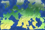 Elluvar Continent Map