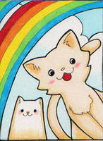 Rainbow Kittens by Jellyfish-Station