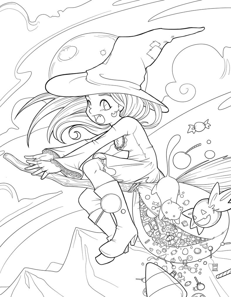 Halloween Fiasco lineart by Jellyfish-Station