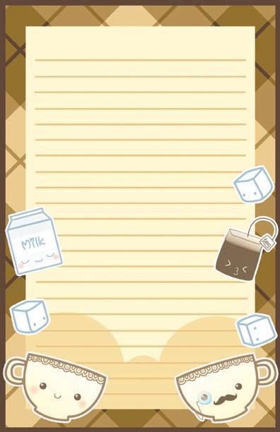 Kawaii Tea Time Stationary by Jellyfish-Station