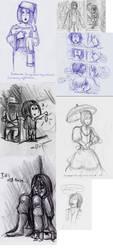 Amnesia sketchdump by SilverDust337