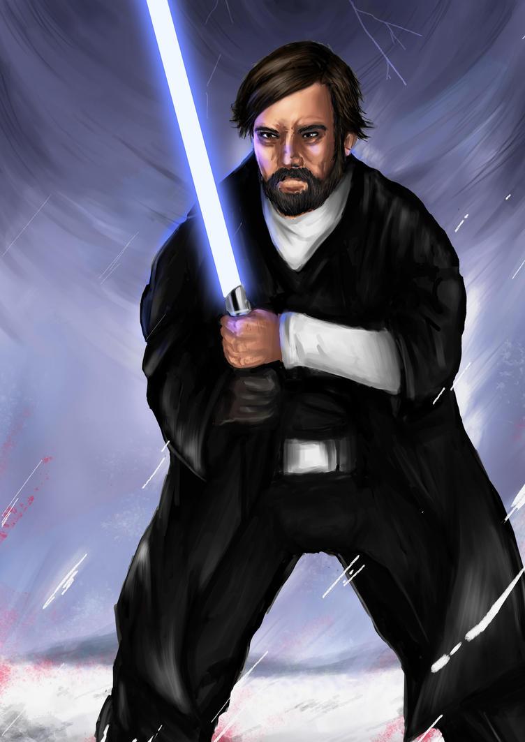 Luke Skywalker Starwars The Last Jedi Fanart By ChawaART