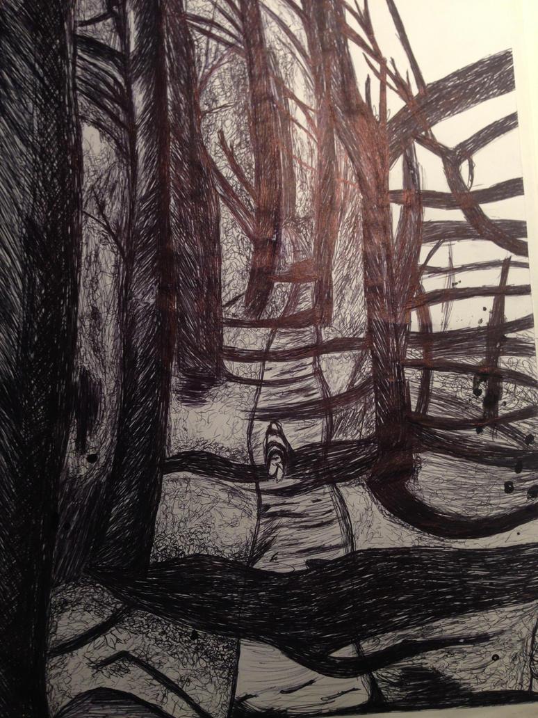 Spoopy Dark Forest by Starfirefly91
