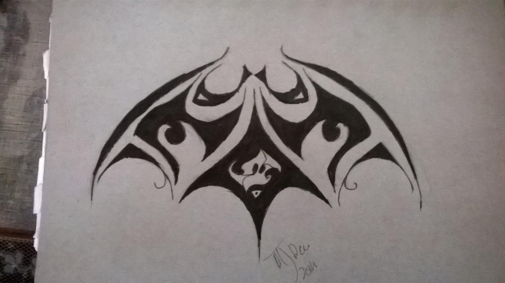 batman logo tribal tattoo design by 16roseblack on deviantart. Black Bedroom Furniture Sets. Home Design Ideas