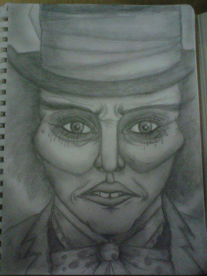 Mad Hatter Sketch by InkByInk