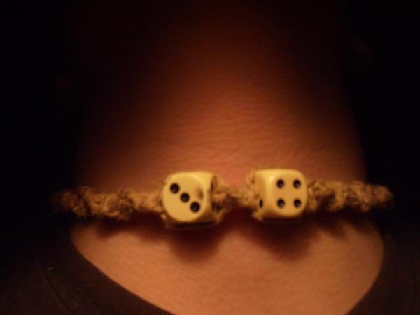 hemp dice necklace