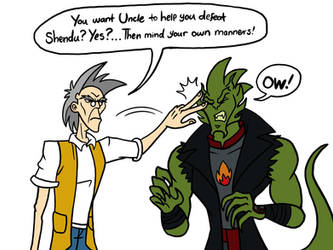 Drago gets a piece of Uncle by MelSpyRose