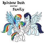 Rainbow Dash and her Family