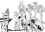 Inktober 01: The Dark Alliance