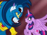Emperor Grogar meets Twilight Sparkle face-to-face