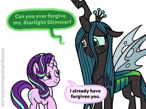 Starlight Glimmer forgives Queen Chrysalis