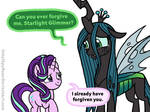 Starlight Glimmer forgives Queen Chrysalis