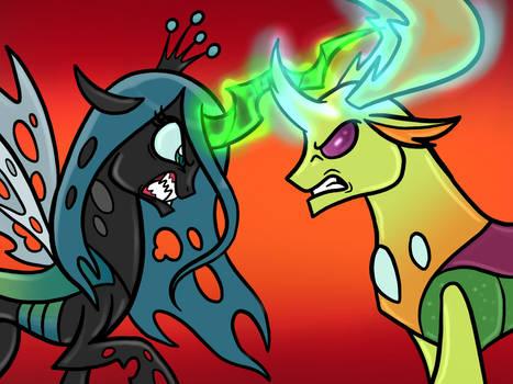 Queen Chrysalis VS King Thorax