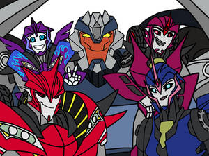 TFP: Breakdown, Knockout and Arcee Family Portrait