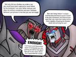 Megatron and Orion Eclipse argue