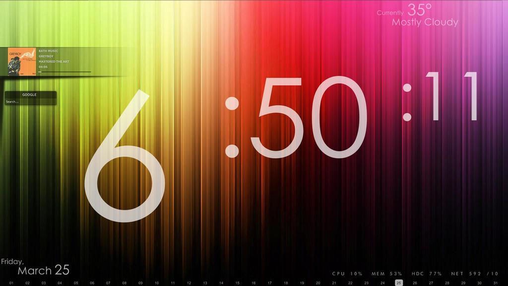 rainmeter how to make a visualiser go over the desktop