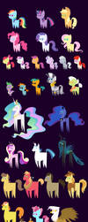 MLP simplified v3 (42 characters) by Vladar4