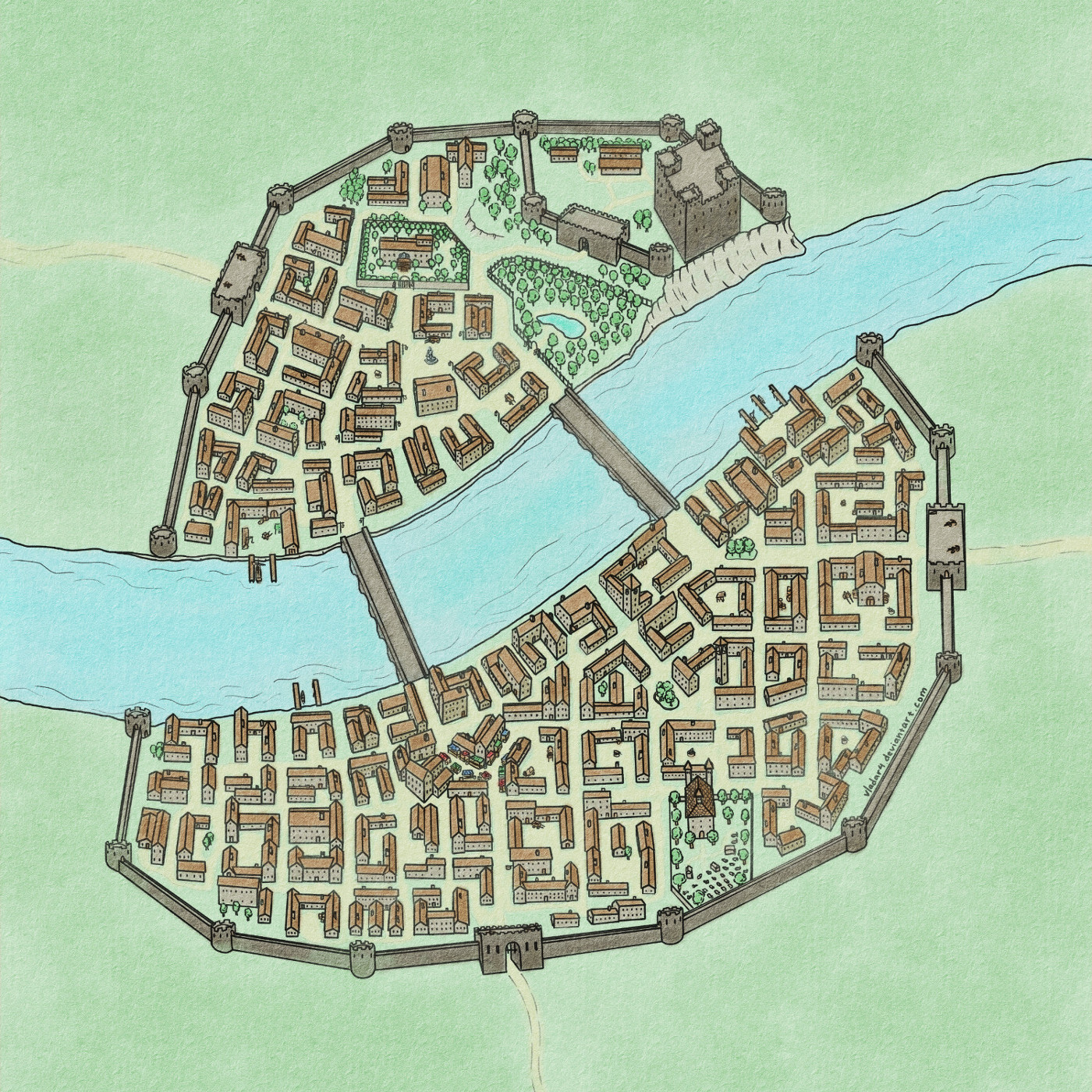 Small Medieval Town Map by Vladar4 on DeviantArt