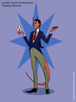 Random Character: Tiefling Wizard by Vladar4