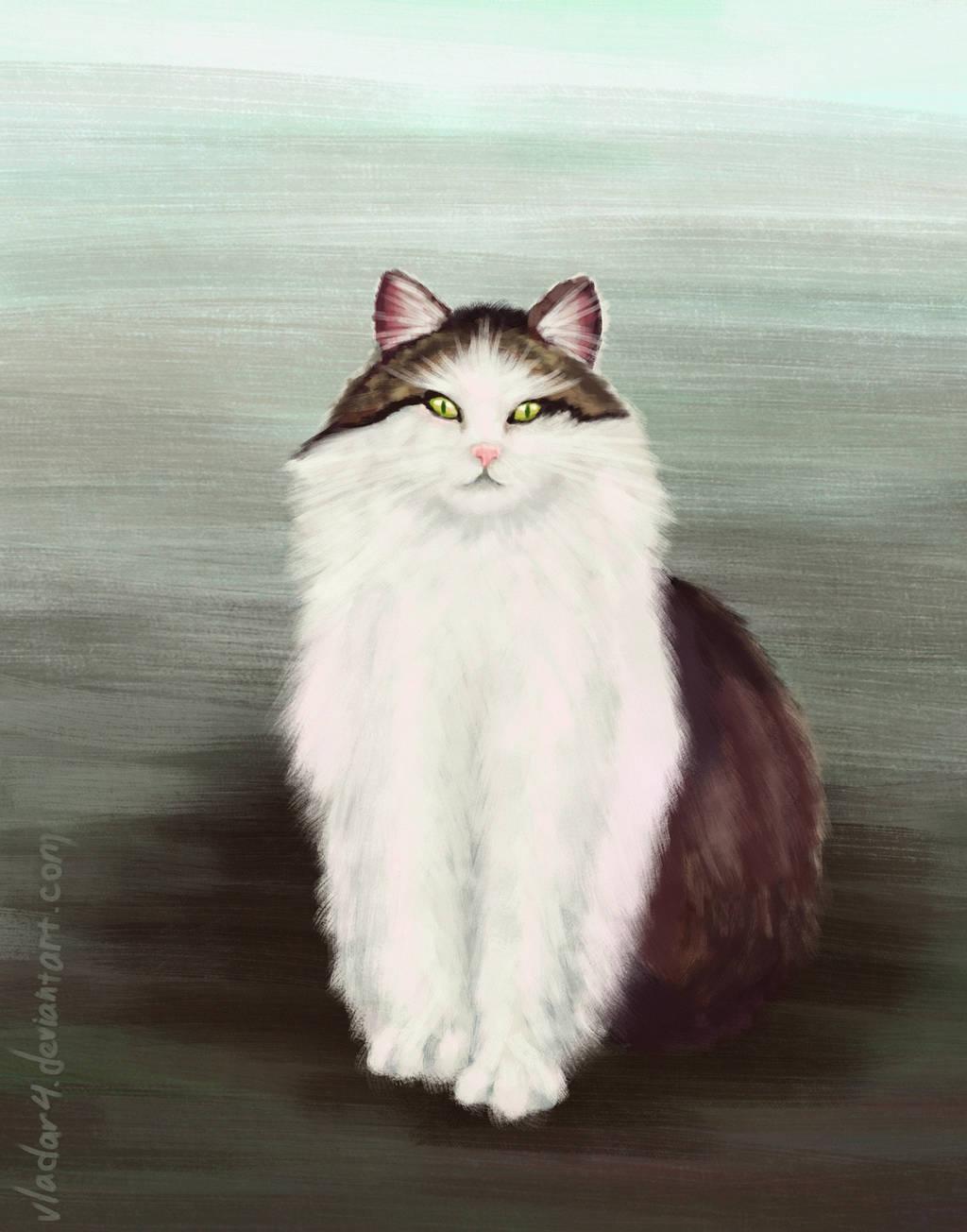 Cat [speedpaint] by Vladar4