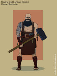 Random Character: Human Barbarian by Vladar4