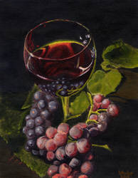 Wine and Grapes by Vladar4