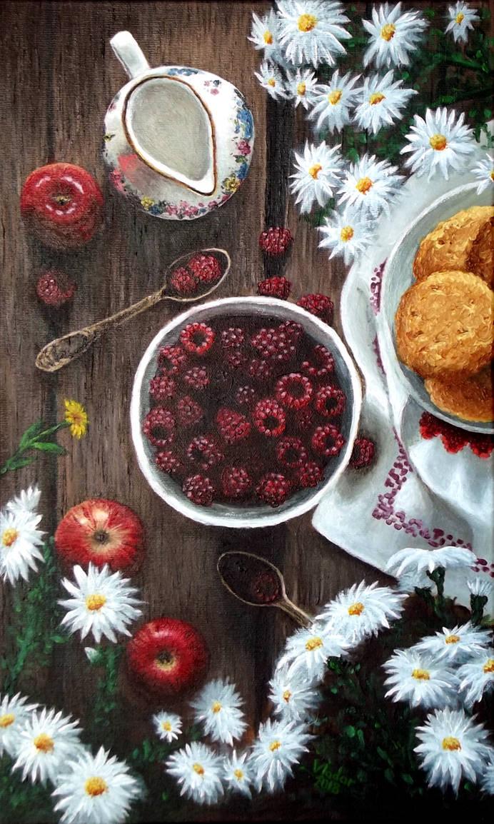 Apples, Berries and Flowers by Vladar4