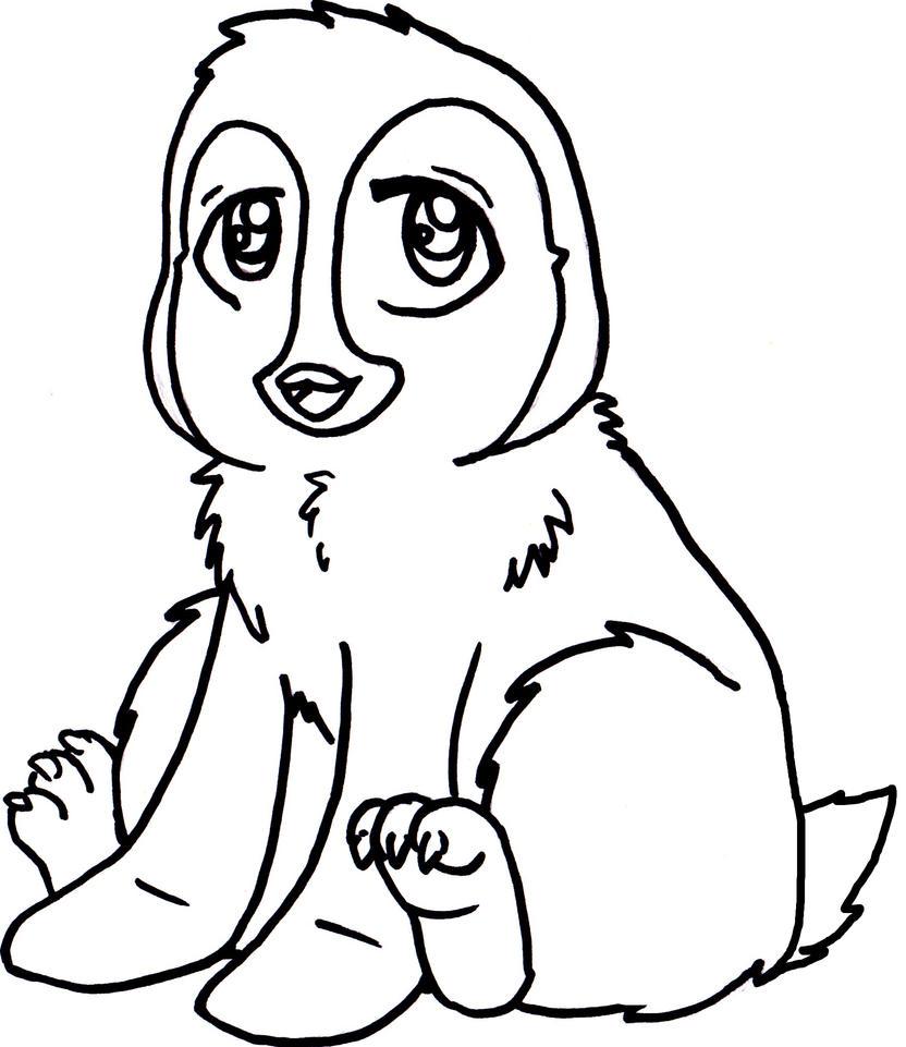 Line Drawing Penguin : Little penguin lineart by meg warrior on deviantart