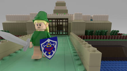 Lego Hyrule Castle, another perspective