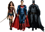 The Trinity Justice League PNG