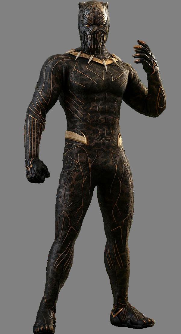 Killmonger Golden Jaguar - Black Panther Movie PNG by ...