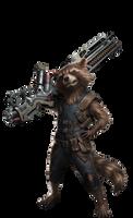 Rocket Raccoon Infinity War PNG by Gasa979