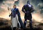 New Gods :Highfather and Darkseid by Gasa979