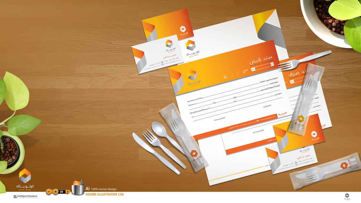 Auto Packing logo and identity design by IntelligentDesigner